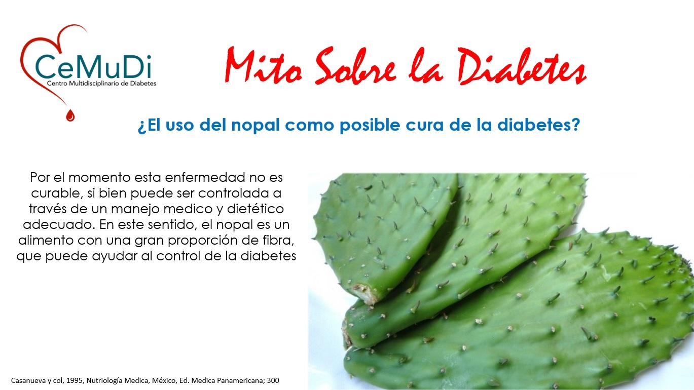 cuidado de la diabetes nopal