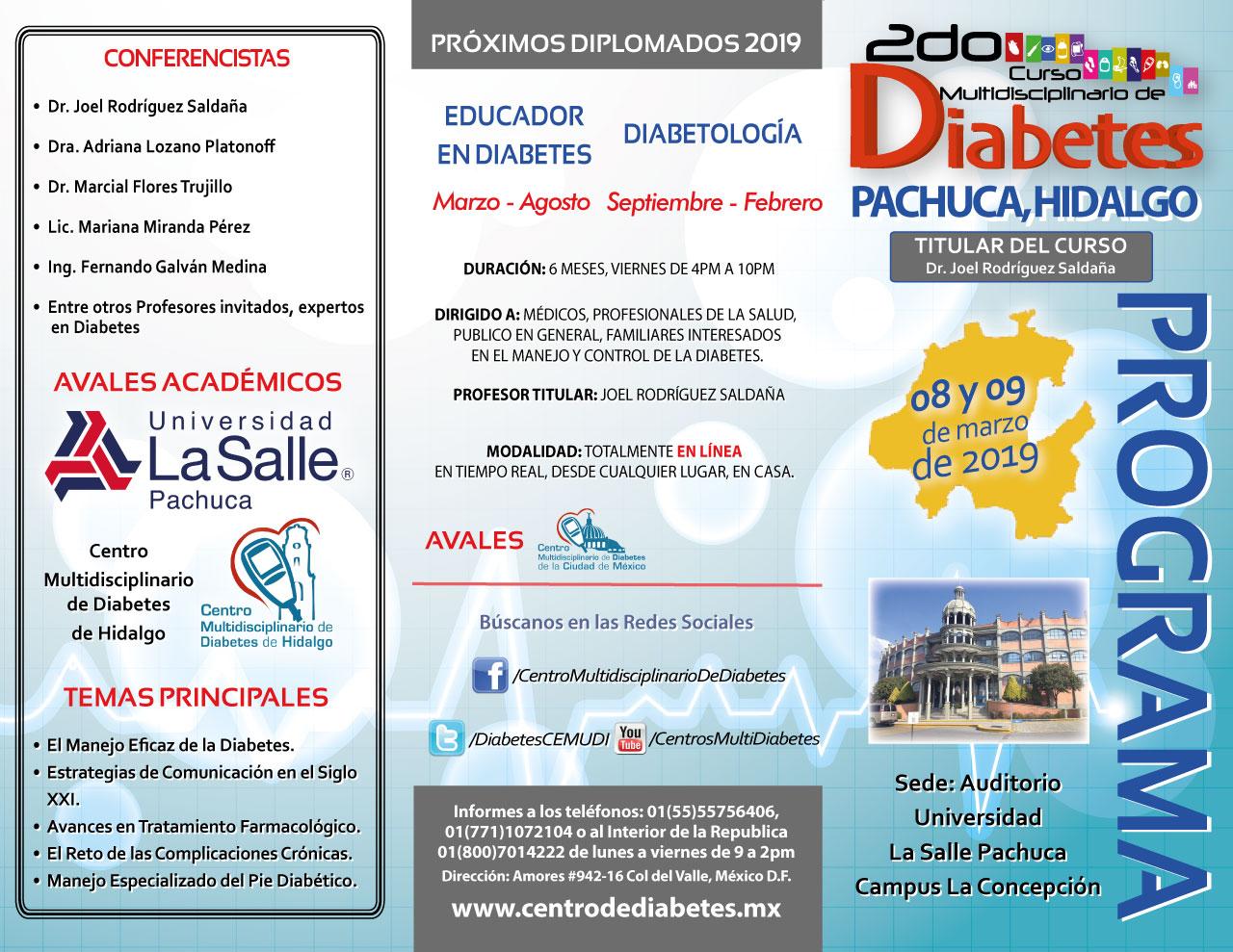 Curso Multidisciplinario De Diabetes De Pachuca Hidalgo Centro